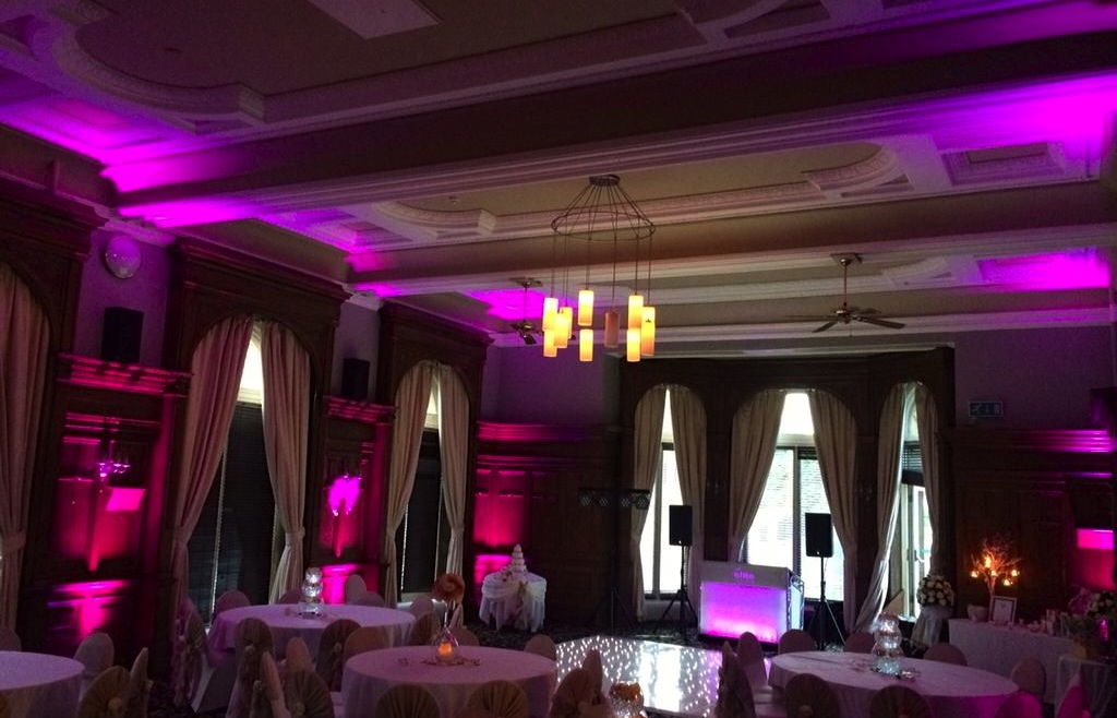 Floor Standing Uplighters Led: Specialist In Wedding Venue Lighting And Sound